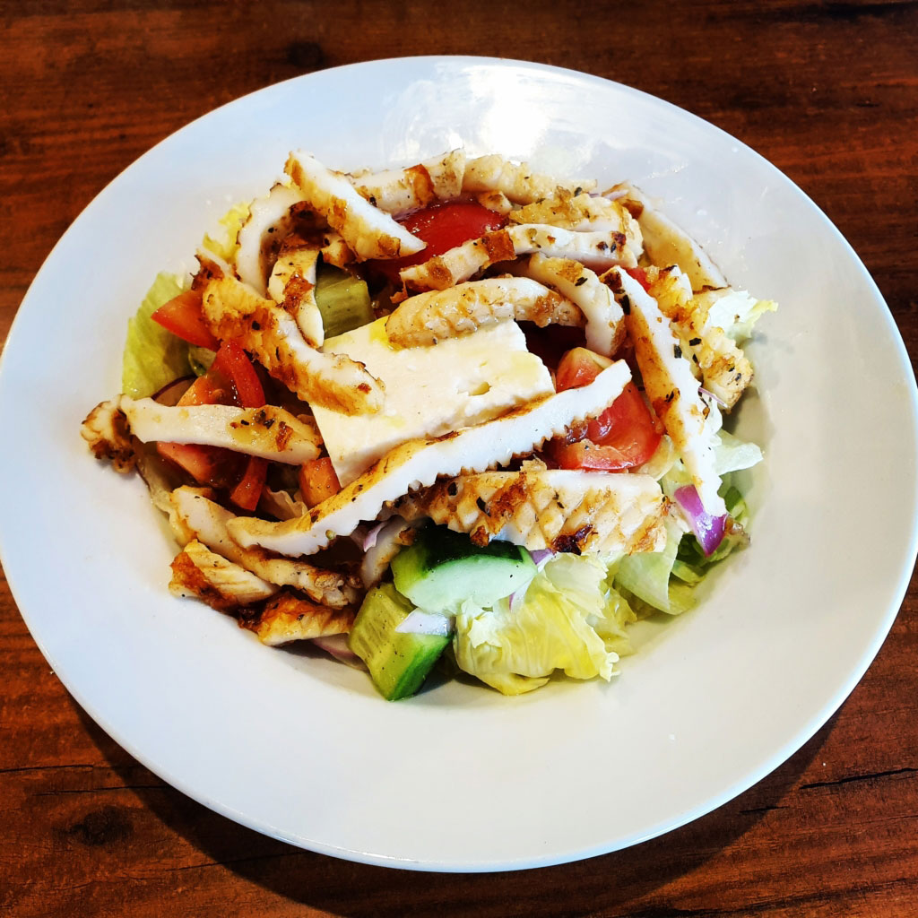 On Fire Broadbeach Greek Taverna Calamari Salad