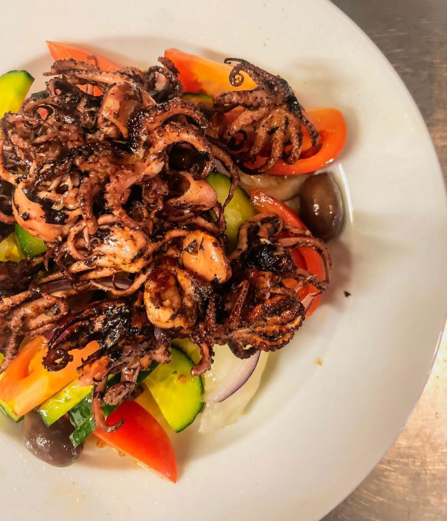 On Fire Broadbeach Greek Taverna Octopus Salad