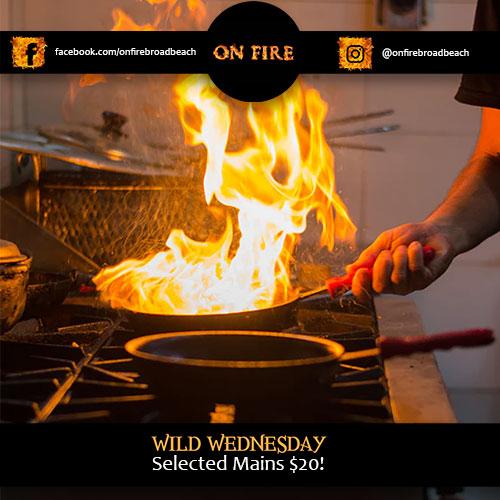 On Fire Broadbeach Greek Taverna Wild Wednesday