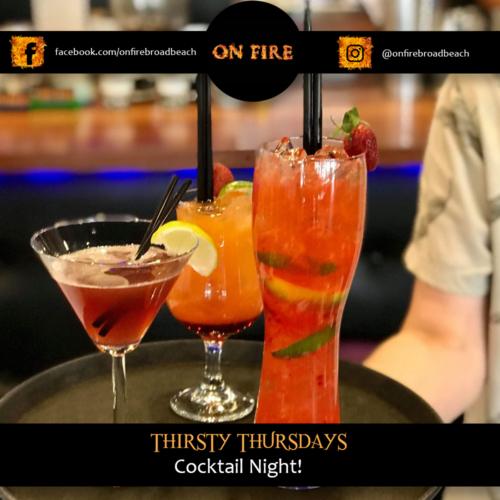 On Fire Broadbeach Greek Taverna Thirsty Thursday